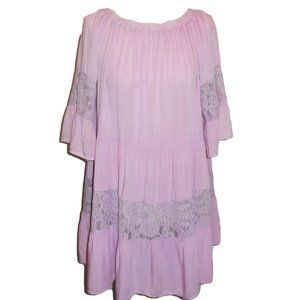 Tunic Blouse Top Shirt Lace Trimmed Ruffled NWOT